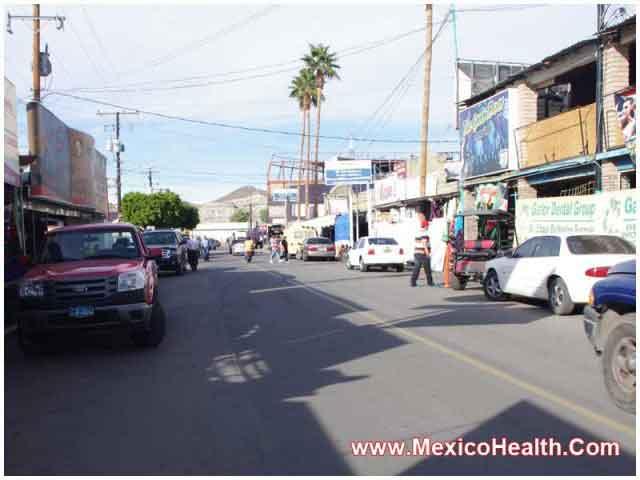 Market in Algodones, Mexico