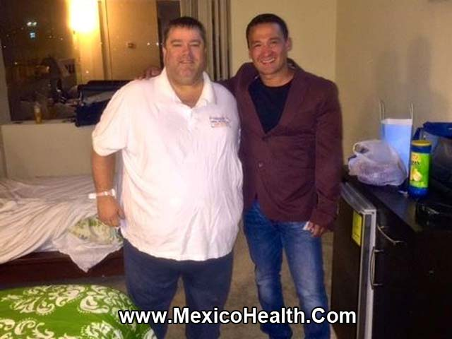 James with his bariatric surgeon in Tijuana